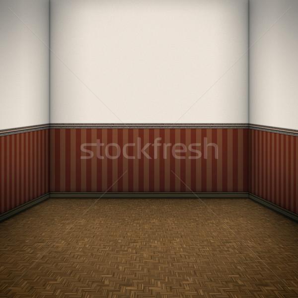 Stockfoto: Mooie · kamer · afbeelding · muur · home · ruimte