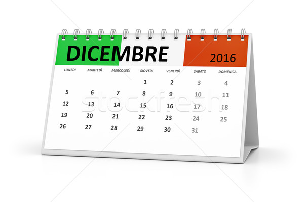 Italiana lingua tavola calendario 2016 dicembre Foto d'archivio © magann