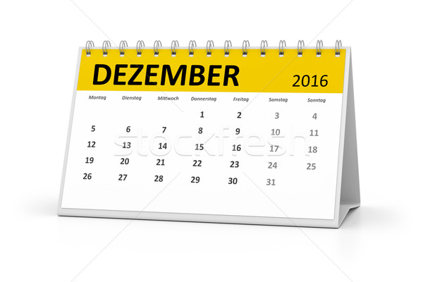 Taal tabel kalender 2016 december evenementen Stockfoto © magann