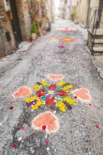 paintings of flowers celebration in Italy Stock photo © magann