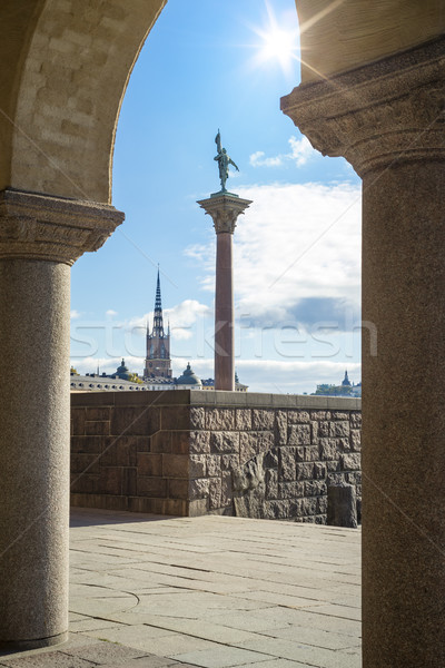 Riddarholmen from the city hall of Stockholm Sweden Stock photo © magann