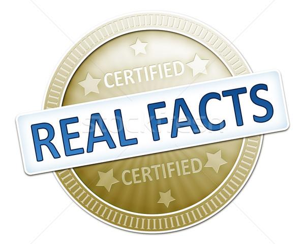 сертифицированный реальный данные иллюстрация знак дизайна Сток-фото © magann