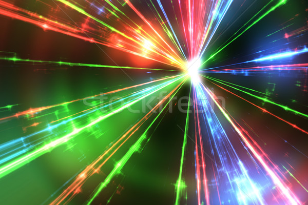 red green and blue laser rays Stock photo © magann