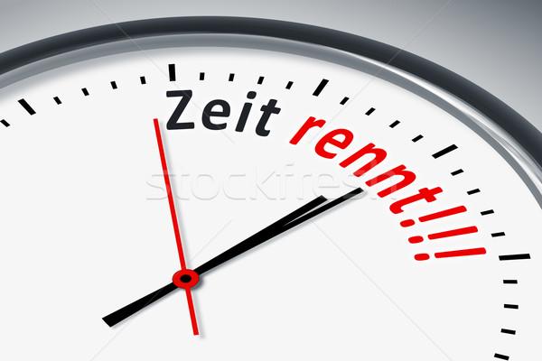 часы текста изображение типичный время черный Сток-фото © magann