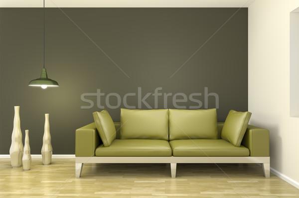 room with a green sofa Stock photo © magann