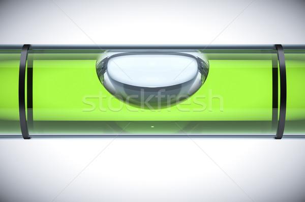 Verde espírito nível 3D indústria Foto stock © magann