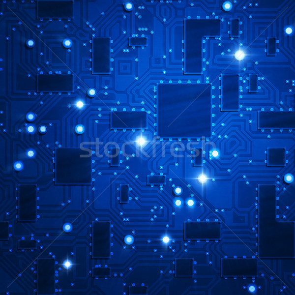 stylized blue circuit board Stock photo © magann