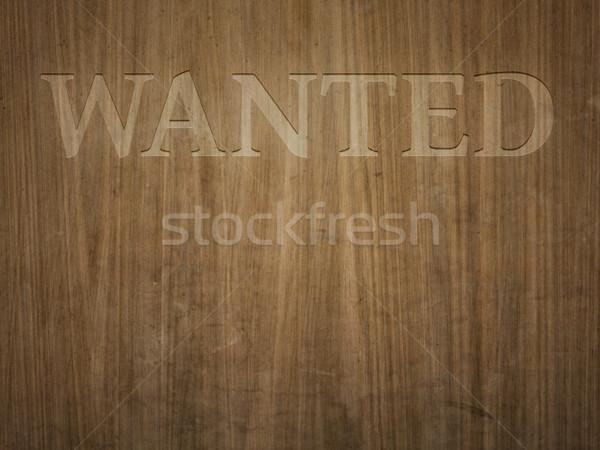 Hout gegraveerd mooie houten woord gezocht Stockfoto © magann