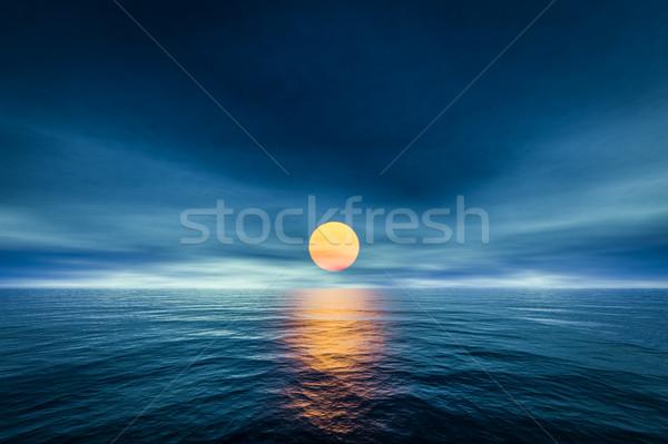 a sunset over the sea Stock photo © magann