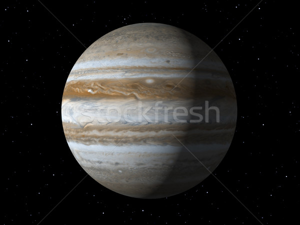 Planet Jupiter done with NASA textures Stock photo © magann