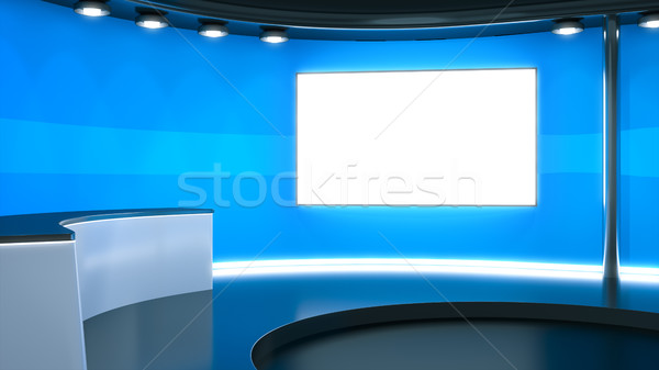 a blue television studio background Stock photo © magann