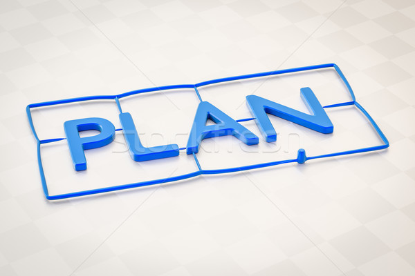plastic injection molding word plan Stock photo © magann