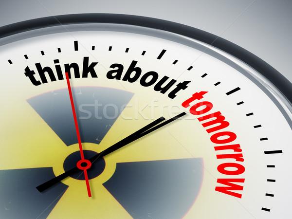 Denk morgen afbeelding mooie klok business Stockfoto © magann