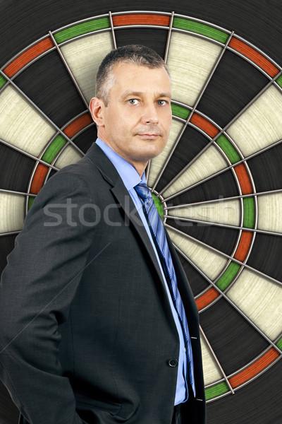 business man dartboard Stock photo © magann