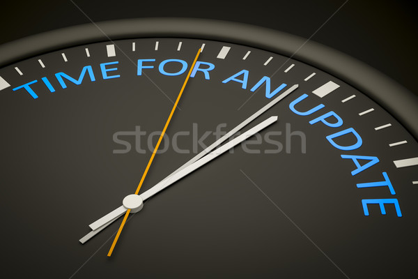 time for an update Stock photo © magann