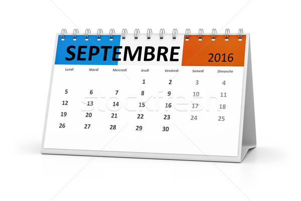 french language table calendar 2016 september Stock photo © magann