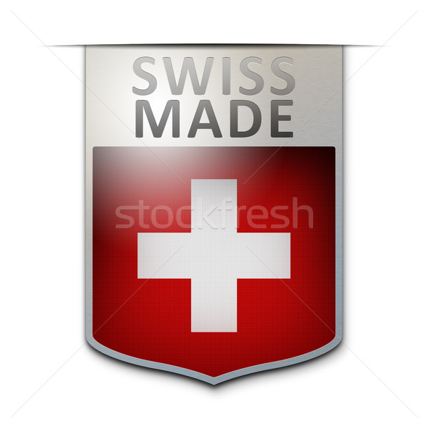 swiss made badge Stock photo © magann