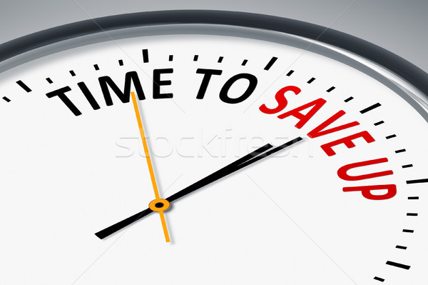 clock with text time to save up Stock photo © magann