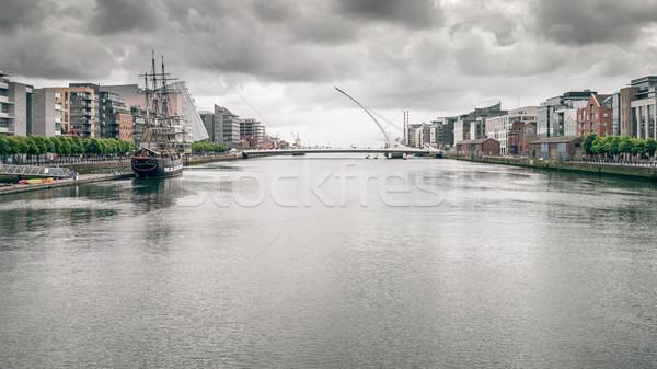 Dublin kép Írország rossz időjárás víz város Stock fotó © magann