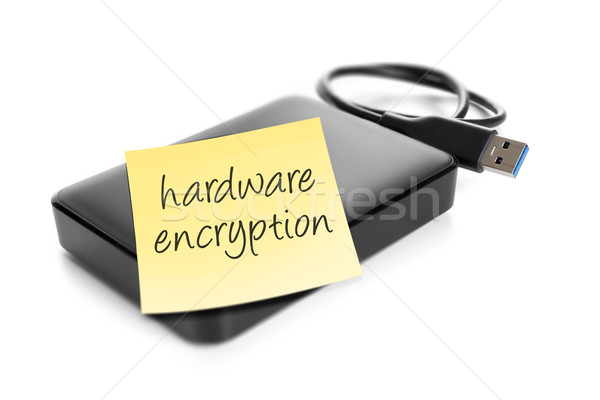 Harde schijf afbeelding tekst hardware papier Stockfoto © magann
