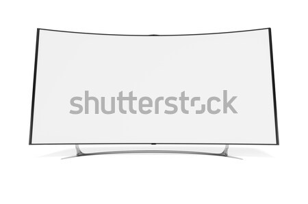 curved widescreen television Stock photo © magann
