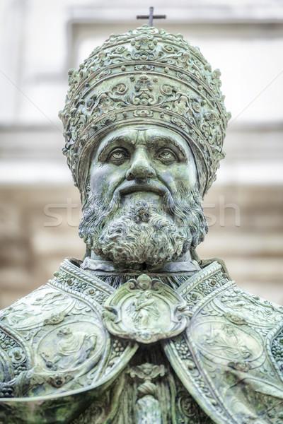 Pápa kép szobor bazilika mikulás Olaszország Stock fotó © magann