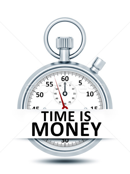 stopwatch with text time is money Stock photo © magann