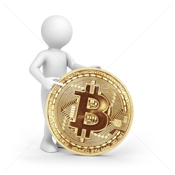 Homem bitcoin imagem prestados homem branco indicação Foto stock © magann