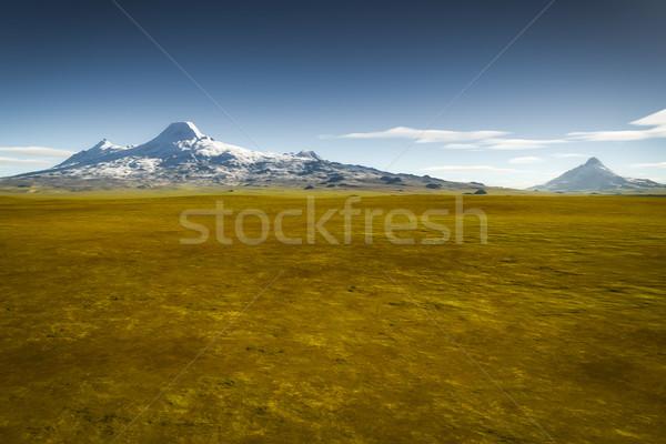 Landschaft Vegetation Bild Himmel Wolken Hintergrund Stock foto © magann