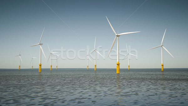 offshore wind energy park Stock photo © magann