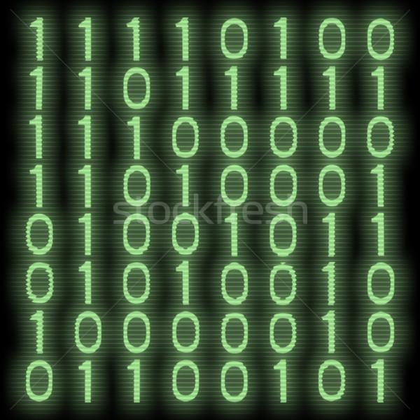 двоичный код изображение зеленый свет дизайна технологий Сток-фото © magann