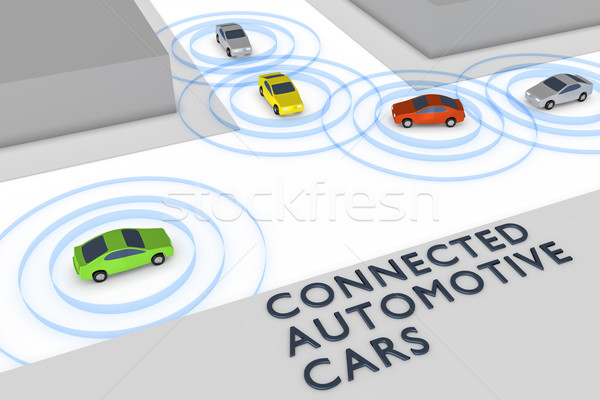 connected autonomous cars Stock photo © magann