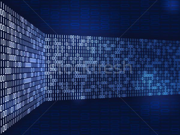 Stock fotó: Bináris · kép · szép · futurisztikus · internet · technológia