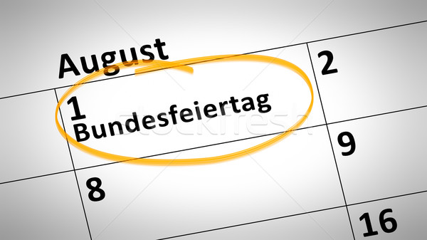 federal holiday first of august in german language Stock photo © magann