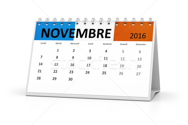 french language table calendar 2016 november Stock photo © magann