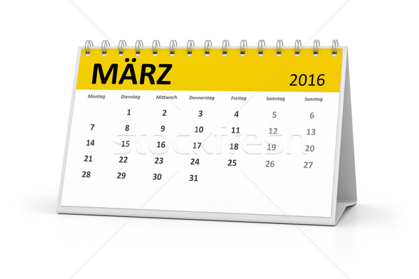 german language table calendar 2016 march Stock photo © magann