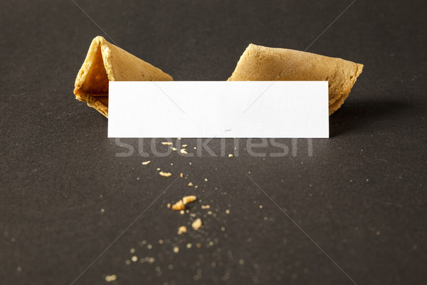 a fortune cookie with a blank paper for your message Stock photo © magann