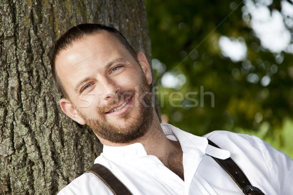 Überlieferung Bild traditionellen Natur Hintergrund Männer Stock foto © magann