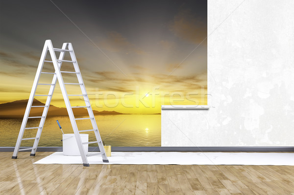 photo mural sunset Stock photo © magann
