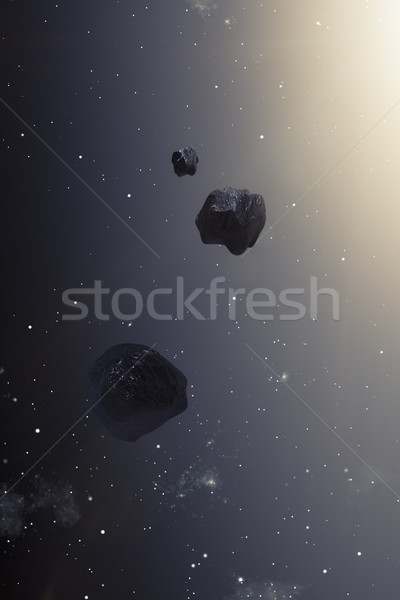 asteroids in the deep space Stock photo © magann