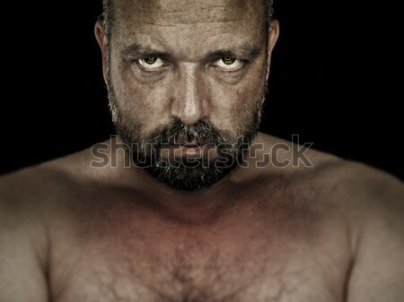 angry muscled bodybuilding man Stock photo © magann