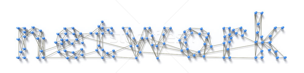 Сток-фото: слово · сеть · 3D · Мир · технологий