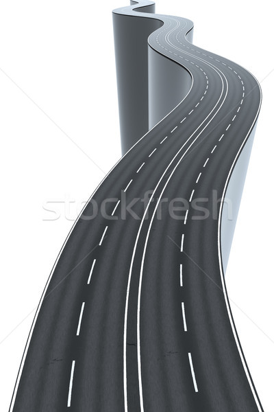 a winding road high and risky Stock photo © magann