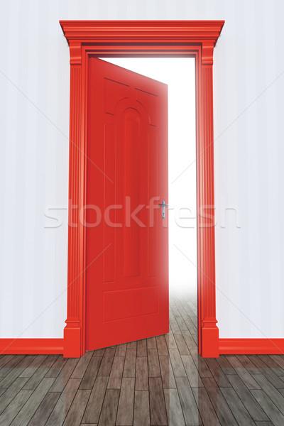 Rosso porta immagine open strada colore Foto d'archivio © magann