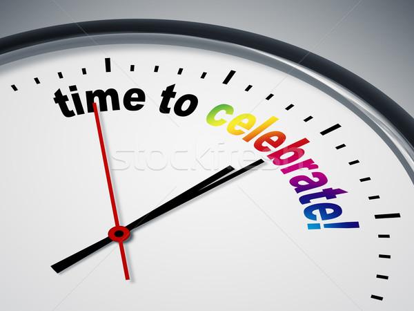 ストックフォト: 時間 · を祝う · 画像 · いい · クロック · ビジネス
