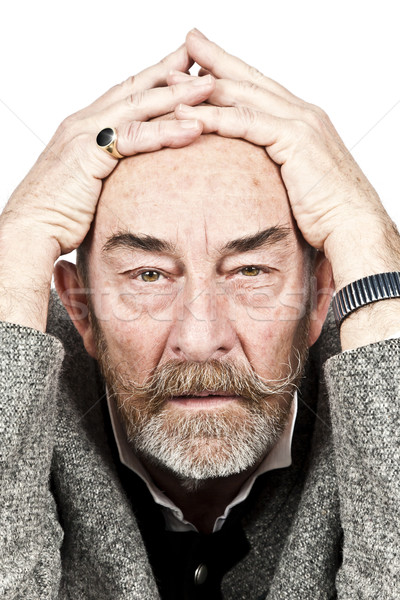 old man sorrow Stock photo © magann