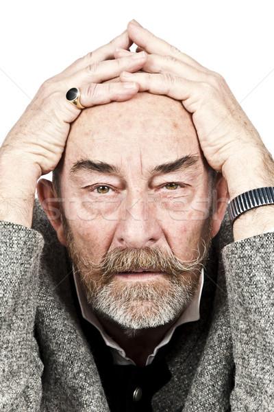 старик горе серый борода помочь подчеркнуть Сток-фото © magann