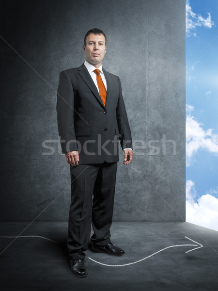 business mans way to the bright side Stock photo © magann