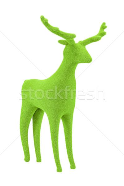 Yeşil kadife ren geyiği yumuşak yalıtılmış beyaz Stok fotoğraf © magann