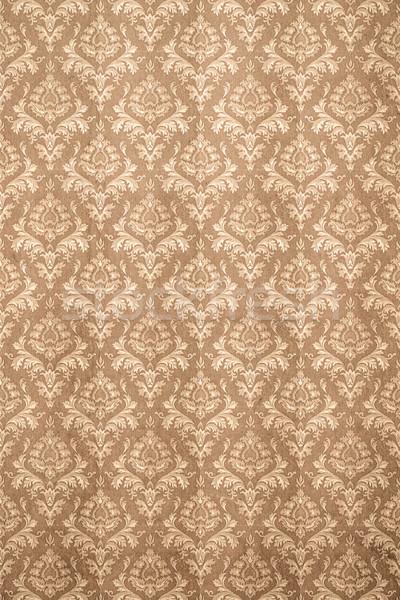 Régi tapéta kép szép barna fal terv Stock fotó © magann